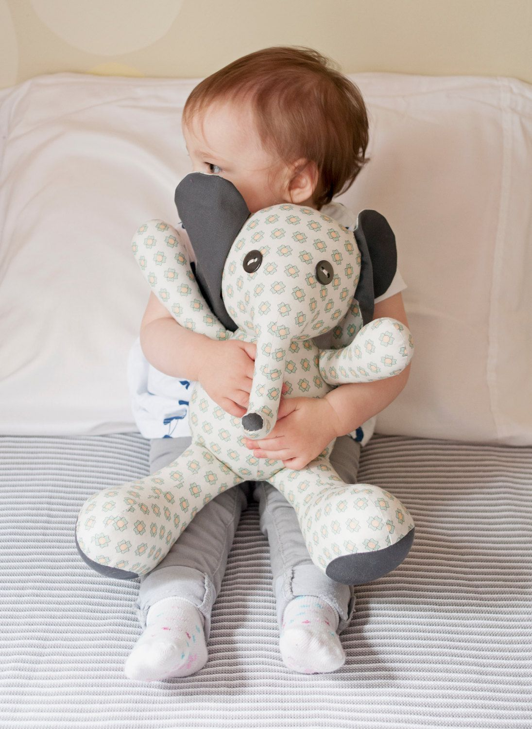 sewing templates for stuffed animals - flora elephant stuffed animal sewing pattern animal