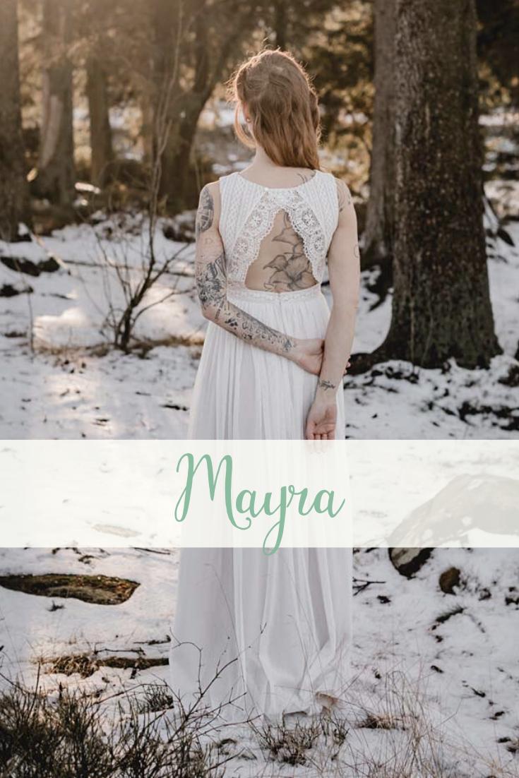 Brautkleid MAYRA - lässig , natürlich und romantisch in ...
