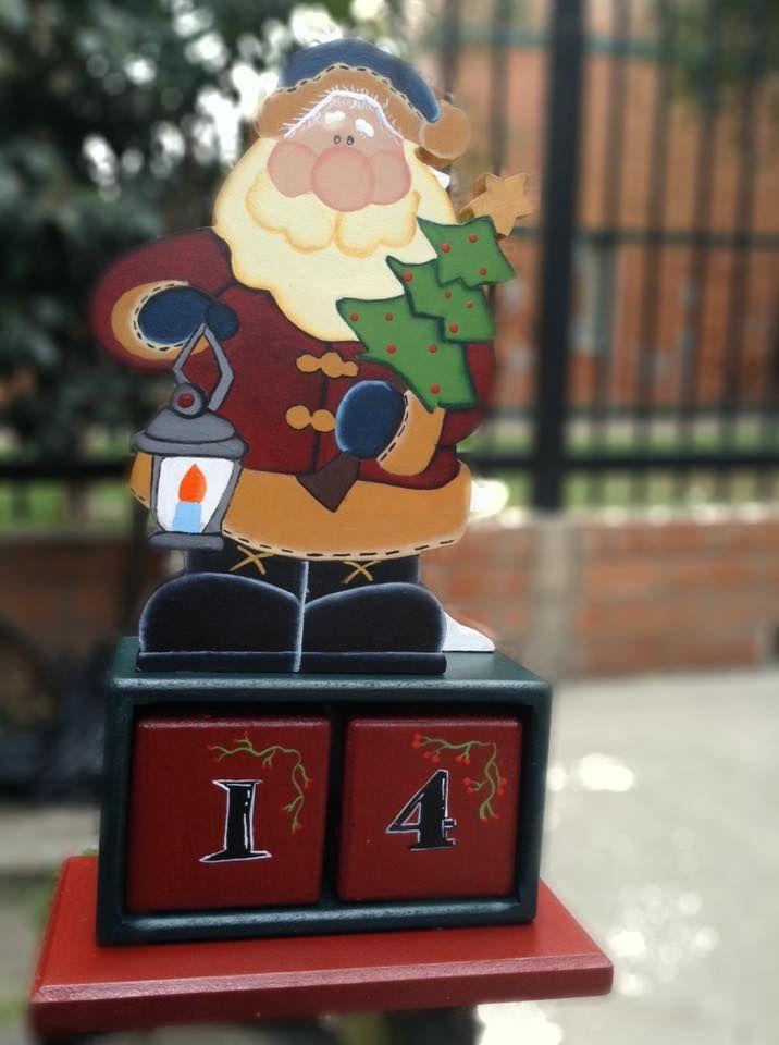 calendario de navidad, en cubos, linda decoración , espacios pequeños