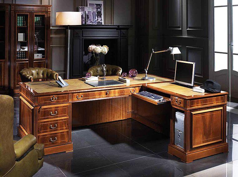 Domotik Desk With Left Or Right Cpu Return Http Www Portobellodeluxe Com En Product Asp Id 109 Mesas Despacho Muebles De Oficina Ejecutiva Despacho Abogados
