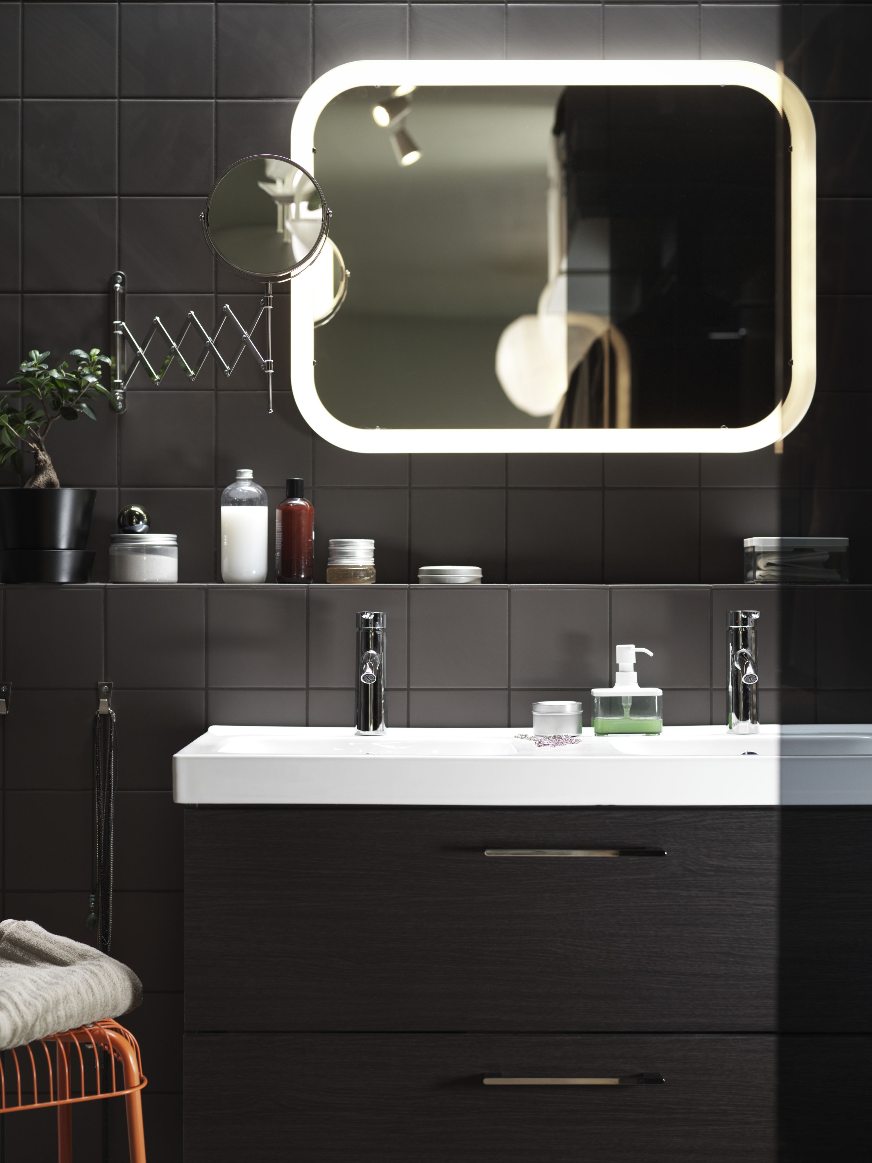 The Storjorm Mirror With Built In Light Gives You Perfect Glow All Year Long