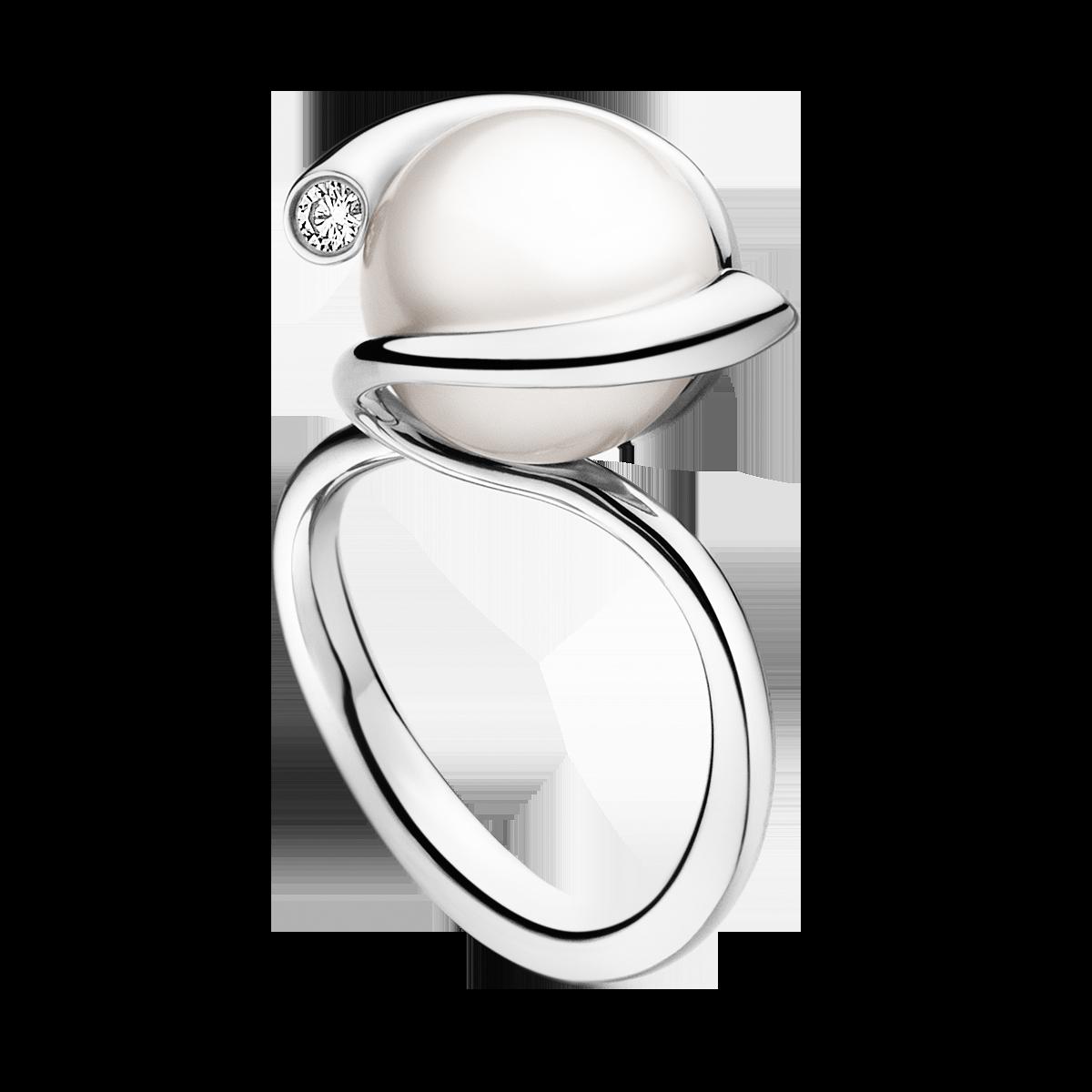 Georg Jensen Magic Ring 18 Kt White Gold With Fresh
