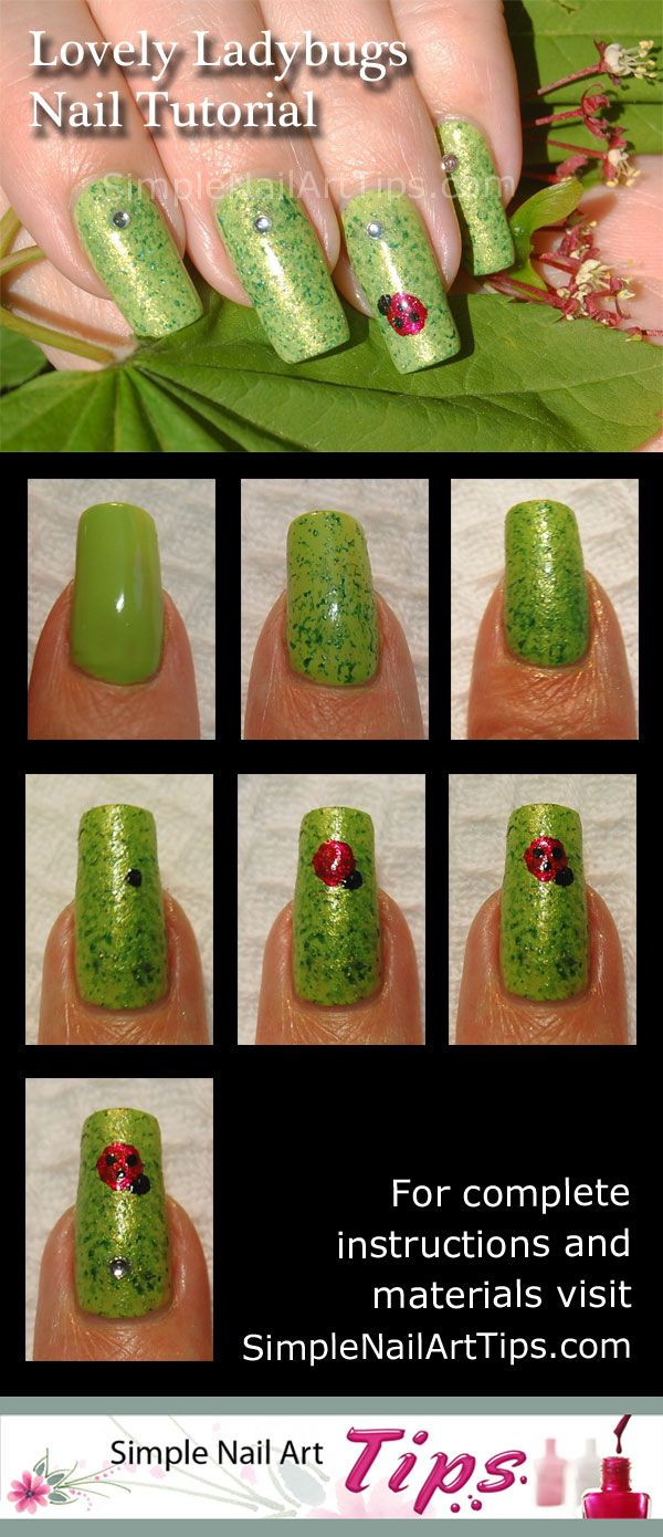 Lovely Ladybug Nail Art Step By Step Tutorial By Www