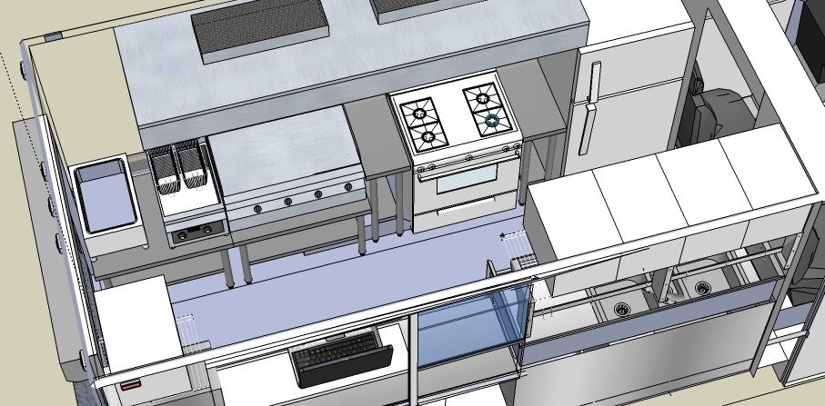 Design concept for food truck the lunch truck biz for Food truck layout plans