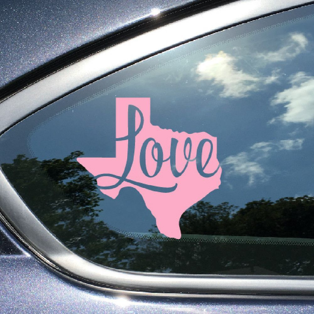 Texas Car Decal Love Texas Pink Vinyl Window Sticker Car Window - Vinyl car decals for windows