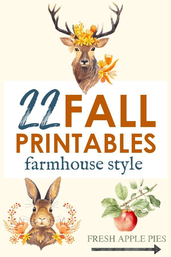 Farmhouse Fall Decor - 22 Printable Fall Art Pieces for FREE! #fallcrafts