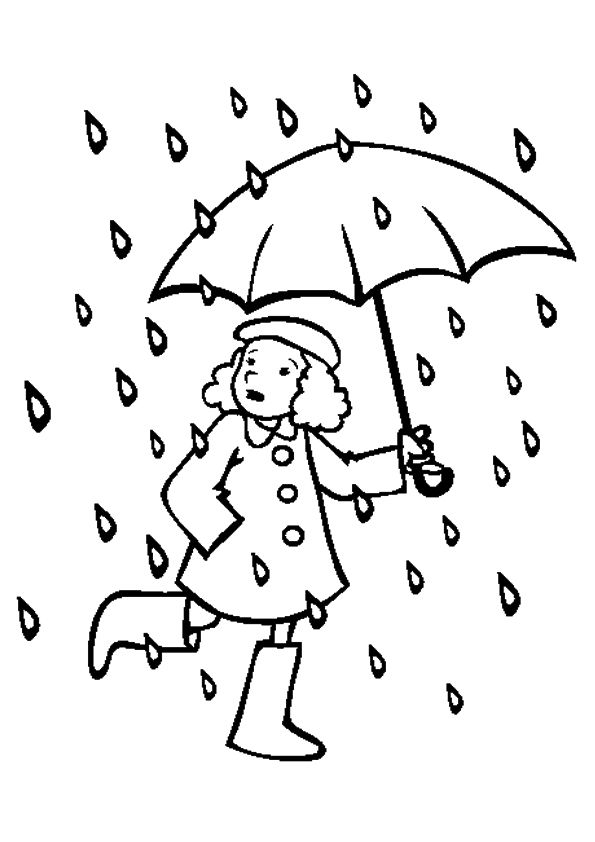 Top 10 Rain Coloring Pages For Your Little Ones Umbrella
