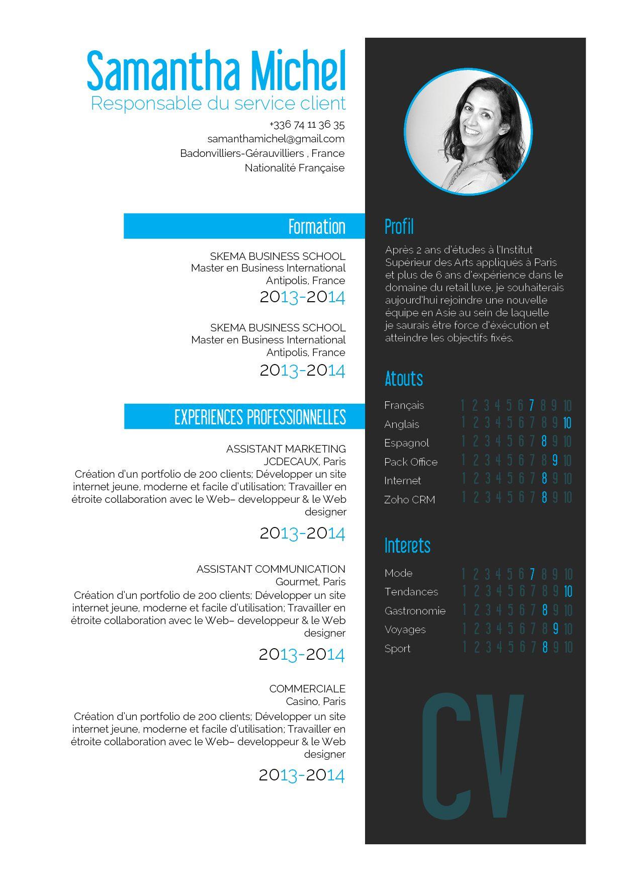 Vivace Un Cv Super Original Dont La Presentation Est Tres Propre Exemple Cv Modele De Cv Original Cv Secretaire
