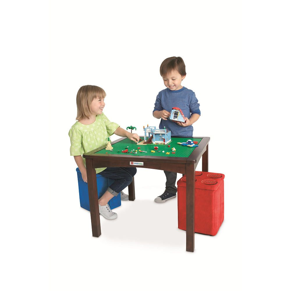 Imaginarium LEGO Table with 2 Storage Ottomans - Espresso | ToysRUs ...