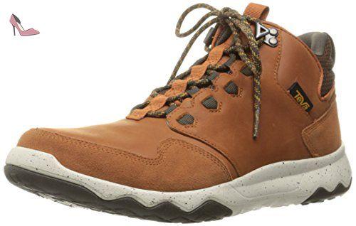 chaussure de marche femme cuir cognac