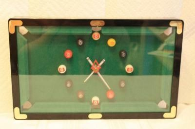 Pool Table Clock Measures Approx 12 X 7 5 Plastic 12 50