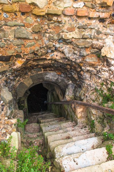 The Dungeon Entrance To Pevensey Castle A Medieval Castle