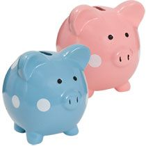 Polka Not Piggy Bank Piggy Bank Streamer Party Decorations Piggy