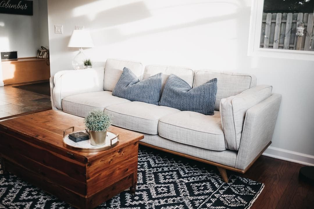 We spent@almost 6 weeks without a couch when we moved in- but @article made it worth the wait! #farmhouse #farm #house #fromwhereistand #instagram #instahome #instadesign #instadecor #instadesign #interiordesign #decoration #decor #modern #decorating