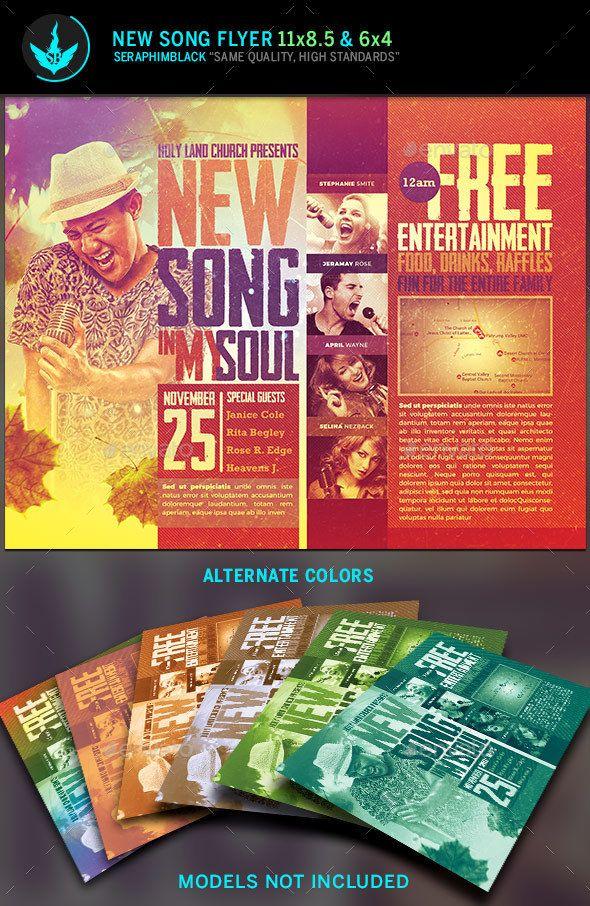 New Song Gospel Concert Flyer Template Flyer Design Pinterest