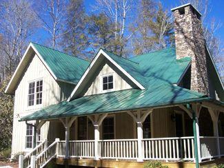 Best Green Metal Roof Light Green Yellow House Exterior 400 x 300