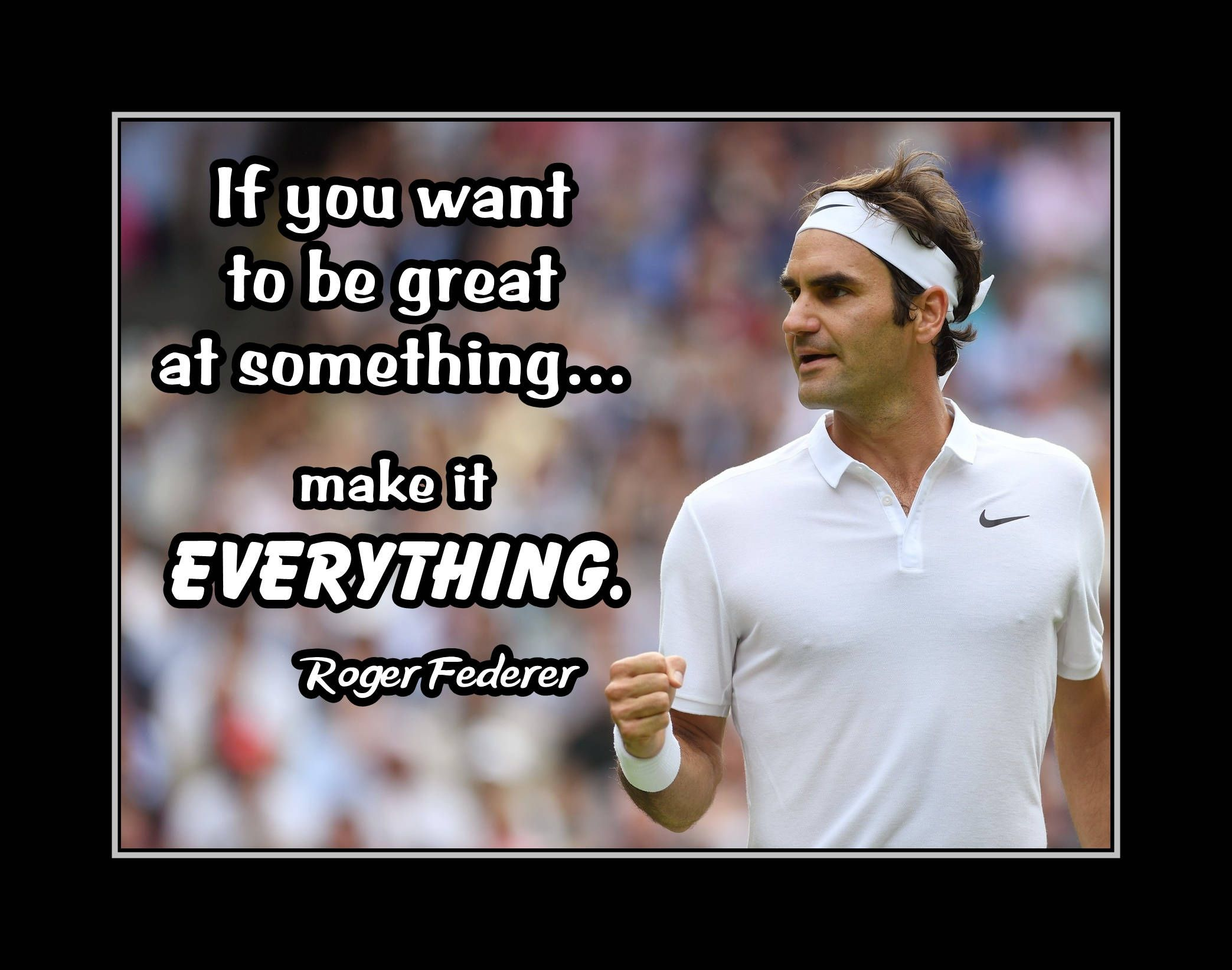 Inspirational Tennis Quote Poster Gift Champion Photo Wall Decor Wall Art Kids Home Bedroom Roge Inspirational Tennis Quotes Tennis Quotes Quote Posters