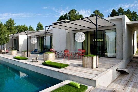 Photos de belle terrasse Terrasses, Bord et Eaux - amenagement bord de piscine