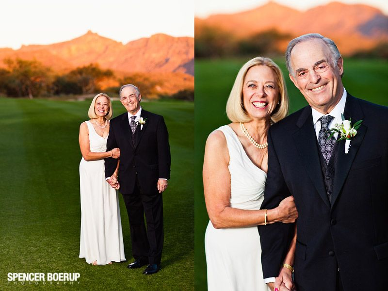 Couple mature wedding