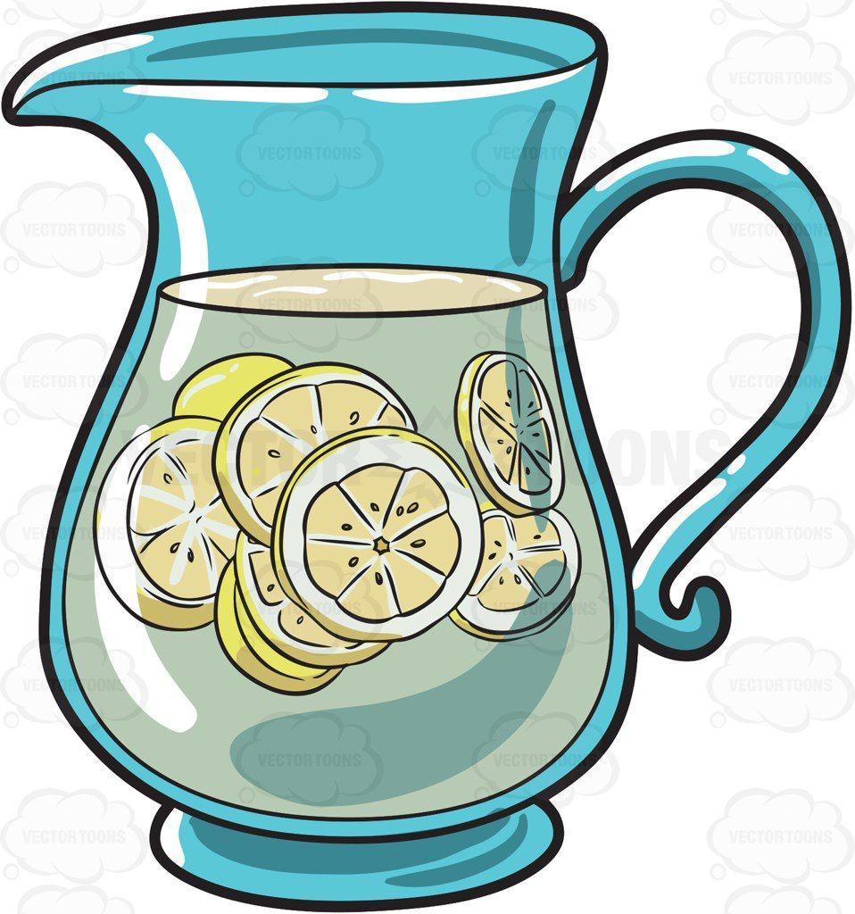 A pitcher of lemonade #cartoon #clipart #vector #vectortoons