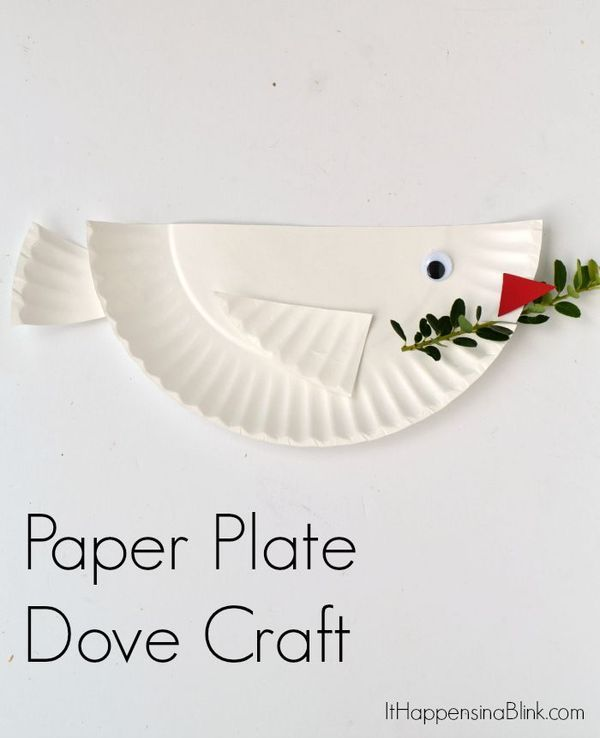 Dove Paper Plate craft for kids | Great craft for VBS Sunday School or  sc 1 st  Pinterest & Dove Paper Plate craft for kids | Great craft for VBS Sunday School ...