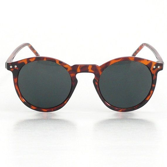 Tortoise Mens Round Frame OMalley Sunglasses / Great Gatsby