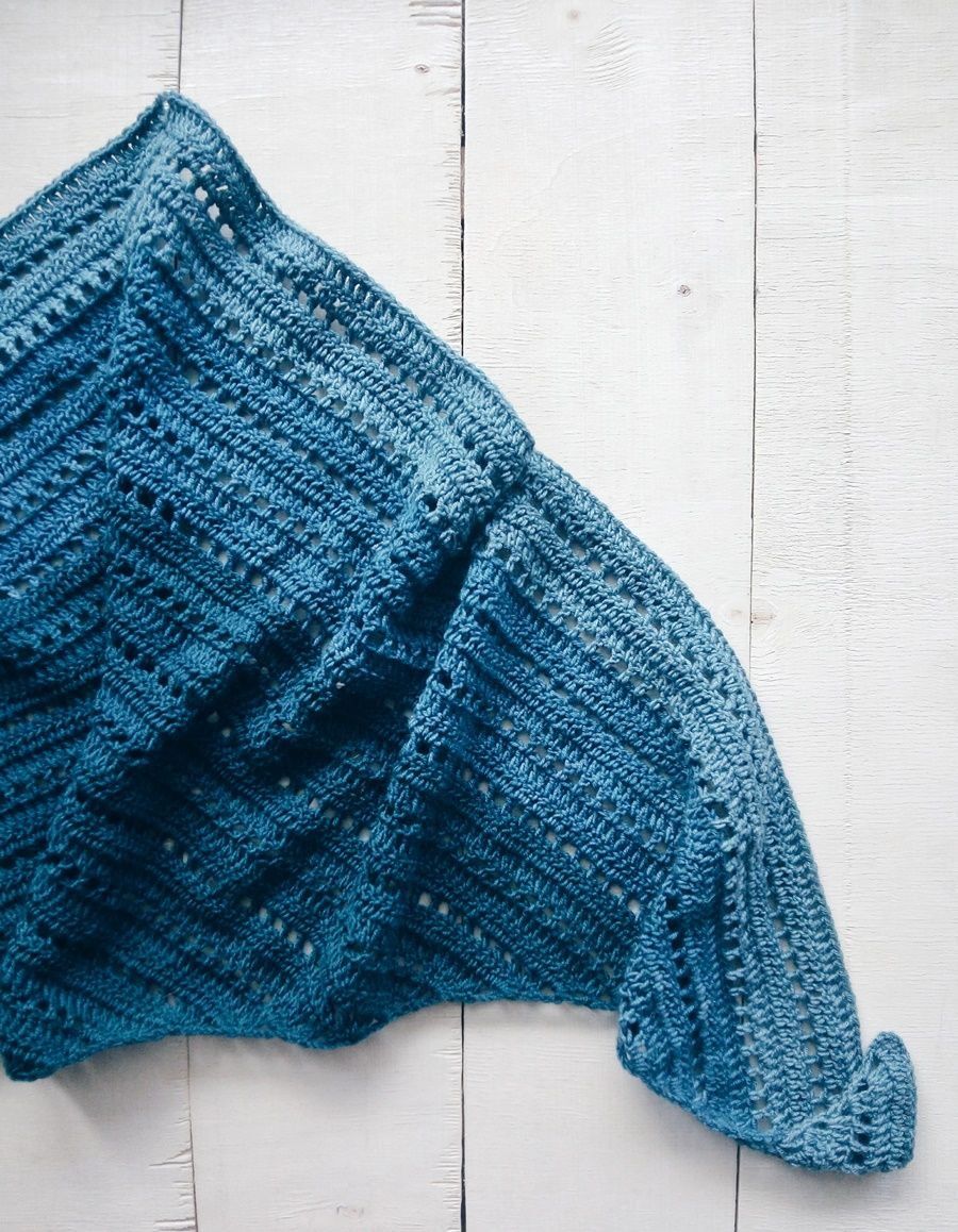 crochet, crochet shawl, crochet blog, ombre shawl, crochet triangle ...