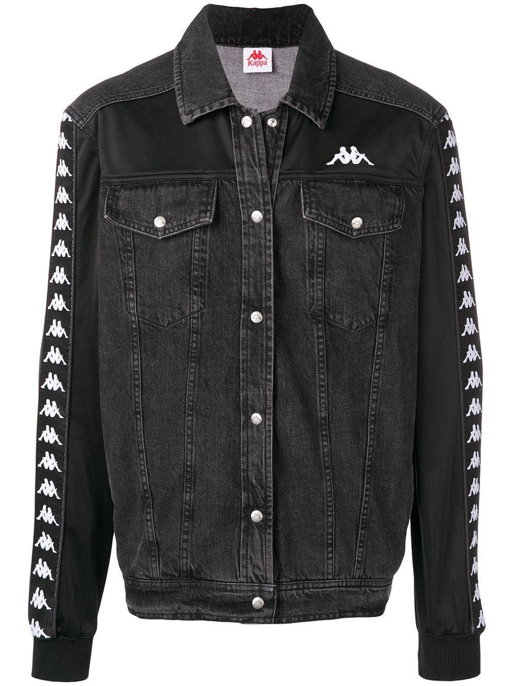 Kappa Side Logo Stripe Jacket In Black Modesens Striped Jacket Kappa Clothing Jackets [ 1334 x 1000 Pixel ]