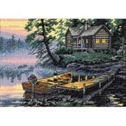 "Dimensions Gold Collection Aurora Cabin Counted Cross Stitch Kit-16/""X12/"" 16 Coun"