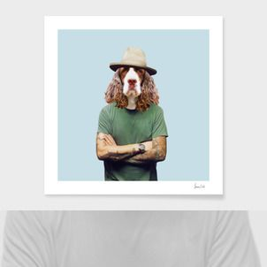 """""""Mr. Riley"""", Numbered Edition Fine Art Print by Francesca Miele - From 20,00€ - Curioos"""