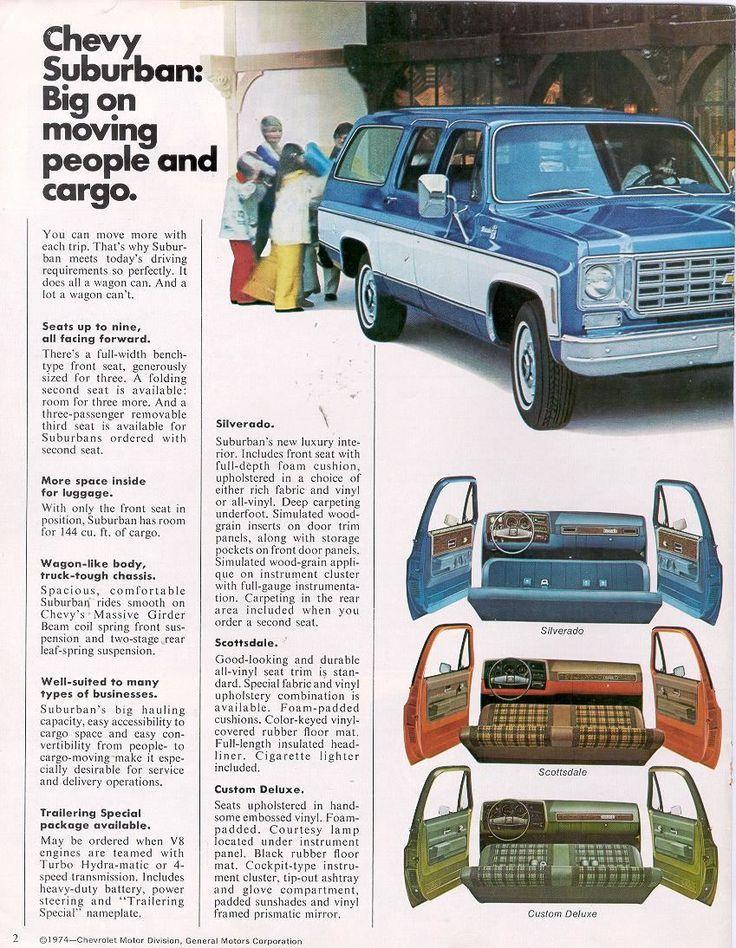 1975 Chevy Suburban Interior Classic Chevy Trucks Chevy