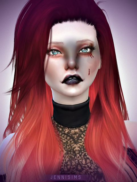 Sims 4 CC's - The Best: Makeup Horror EyeShadow (13 Swatches ) by JenniSim...
