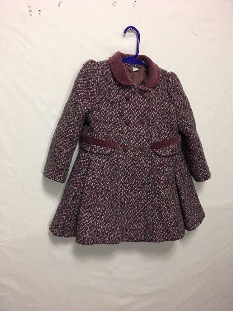 538fedb0a394 Rothschild Toddler Girls Size 4 winter Coat Green teal Wool Blend ...