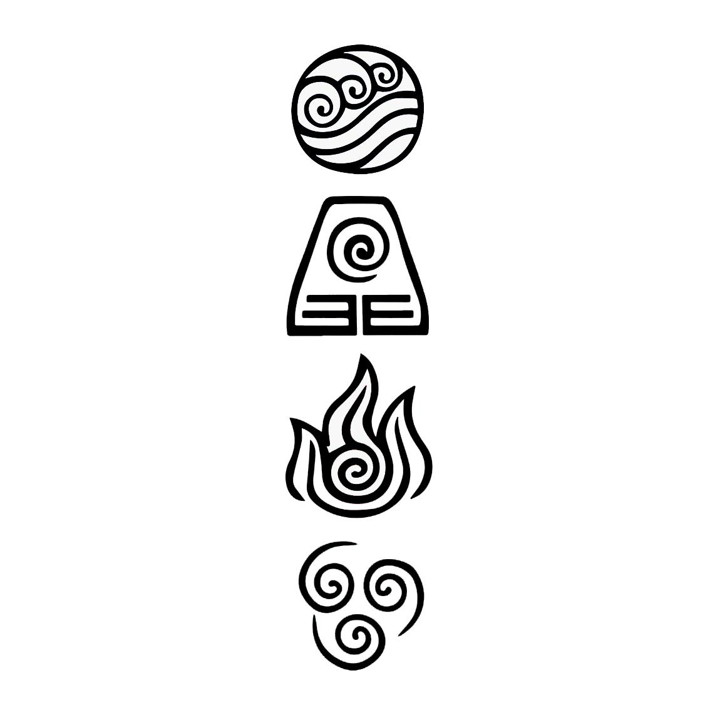 Avatar Symbols die cut vinyl decal