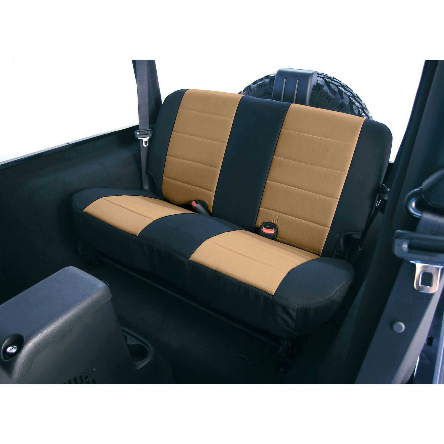 Buy Neoprene Rear Seat Covers Tan 80 95 Jeep CJ Wrangler YJ At Get4x4Parts For Only 17694