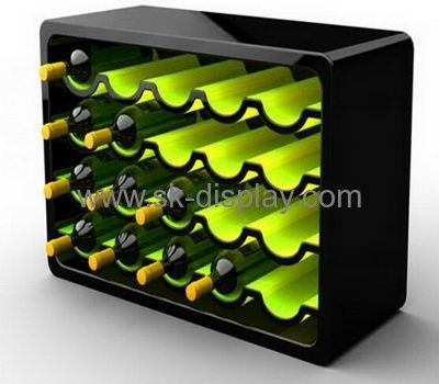 4 tiers double color acrylic large wine bottle display stand rack WD-044