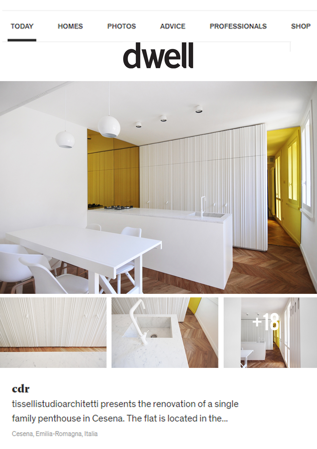 Arredamento Emilia Romagna tissellistudio single family penthouse in cesena, published