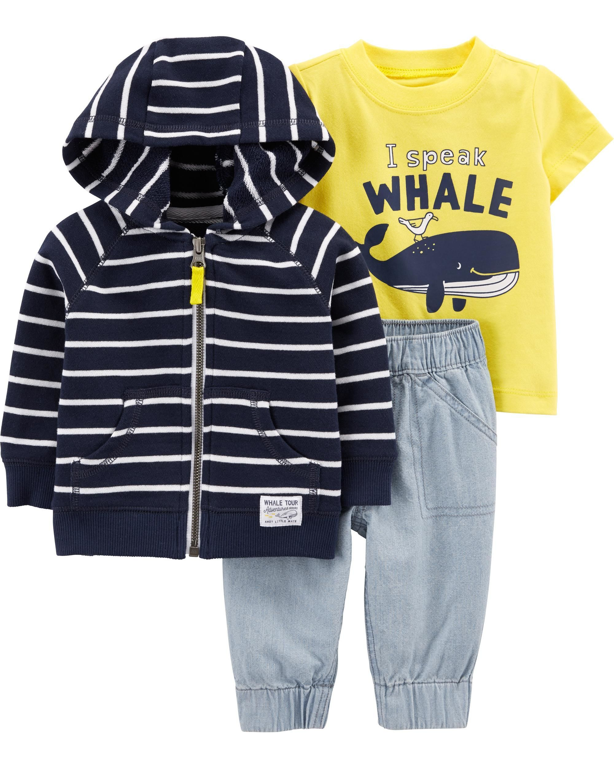 Toddler Baby Boy Style Letter Print Hood Tops Pattern Pants 2PCS Set Clothes