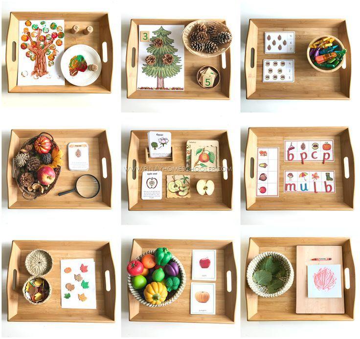 Montessori Inspired Autumn Themed Learning Activities  Montessori Inspired Autumn Themed Learning Activities