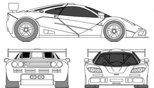 Automobile blueprints mclaren f1 lm road car automobile mclaren gtr race car blueprints vector drawings clipart and pdf templates malvernweather