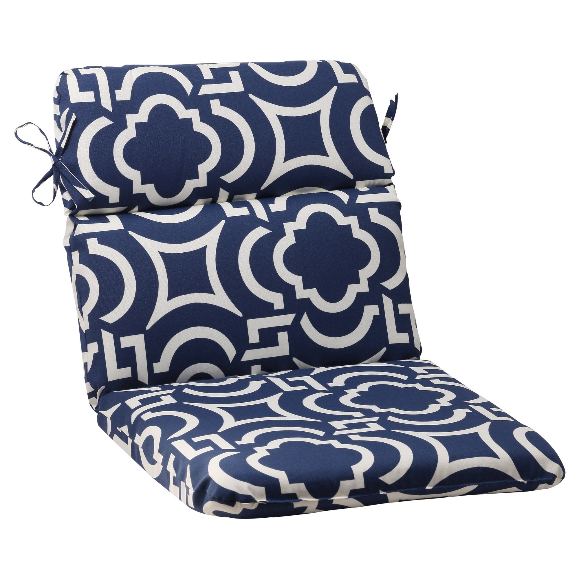 outdoor rounded chair cushion blue white geometric products rh pinterest com