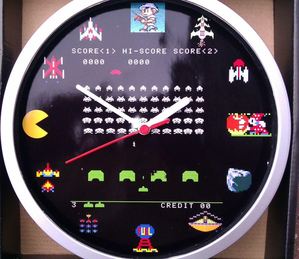 Space Invaders Retro Mame Jamma Arcade Wall Clock Games