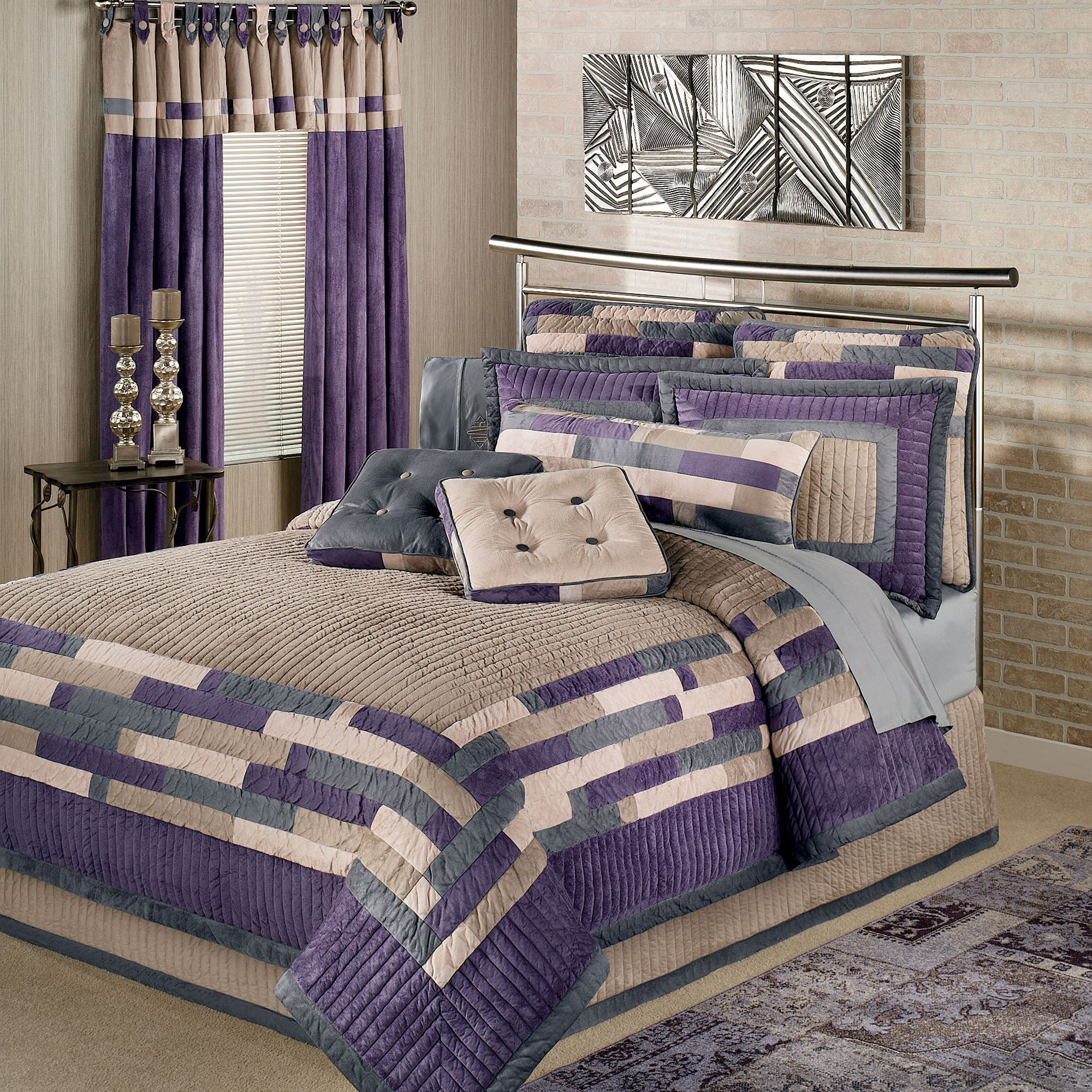 laura keighley itm queen ashley lilac purple quilt set full