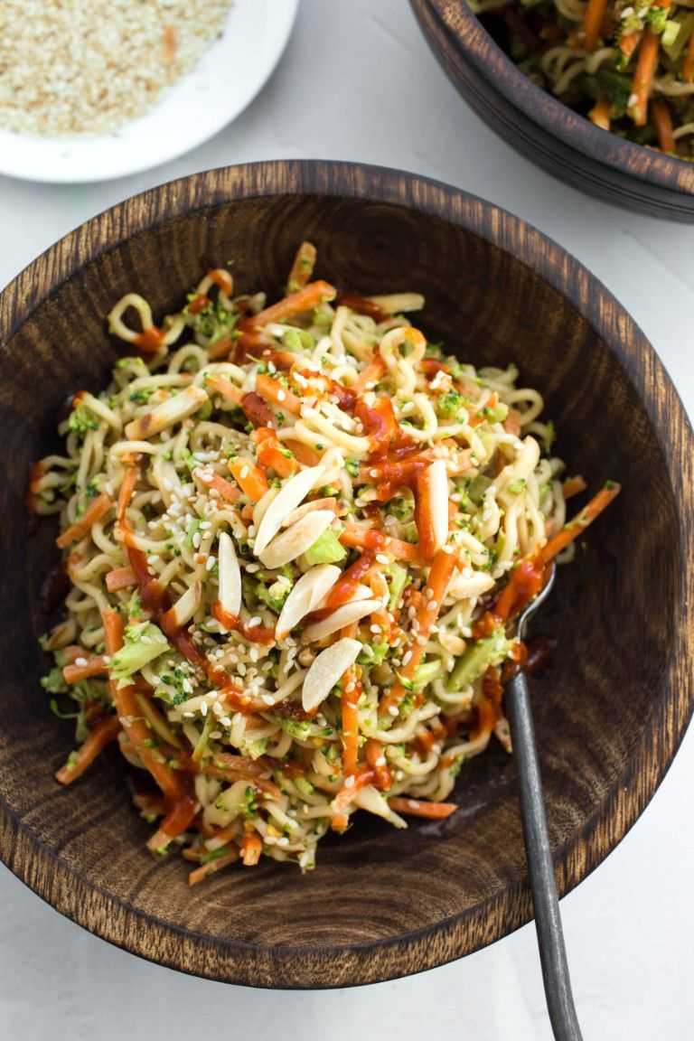 Asian Ramen Noodle Salad Recipe Ramen Noodles Asian Ramen