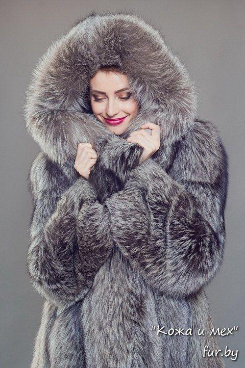 silver fox parka hooded - Google Search   Fur Coats   Pinterest ...