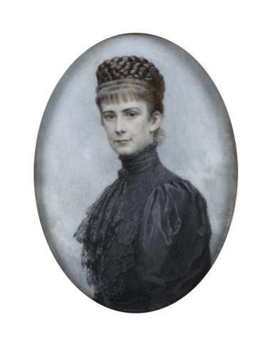 Theo Zasche, Kaiserin Elisabeth, vor 1900, Elfenbein, 13,8 x 10,3 cm, Belvedere, Wien, Inv.-Nr. 2812\nBelvedere, Wien