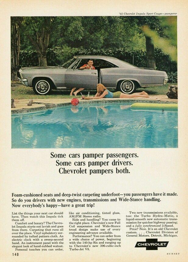 Ad For The 1965 Chevrolet Impala Chevrolet Impala Chevrolet Automobile Advertising
