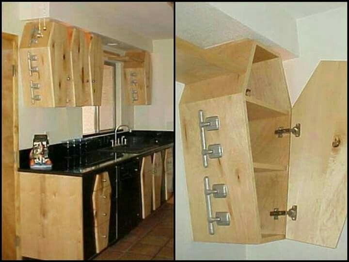 Coffin shaped kitchen cabinet   Dark Home Decor   Pinterest ...