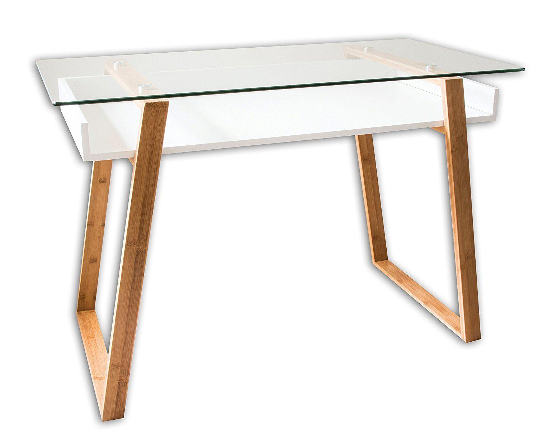 Un bureau épuré en bois massif et tiroirs hellin