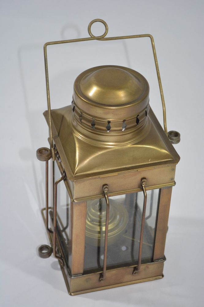 Oil Lamp Nautical Maritime Ship Lantern Boat  BRASS ANCHOR Lamps Lantern